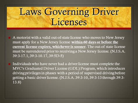 Chapter 1 Nj Driver's License System