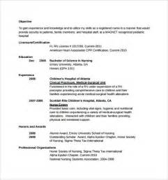 resume objectives for nursing resume 10 free documents in word pdf