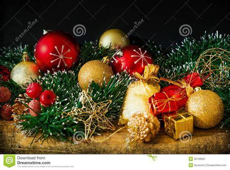 old fashioned christmas decoration stock image image