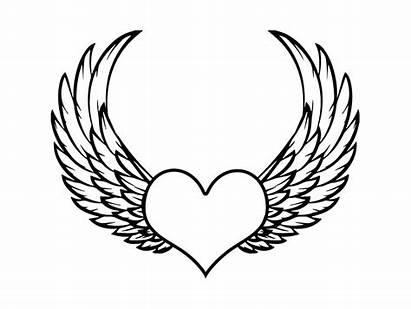 Wings Angel Drawing Dark Heart Drawings