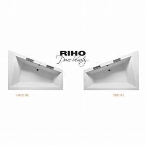 Grande Baignoire D39angle Acrylique RIHO DOPPIO 180x130 Cm