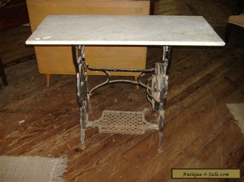 sewing table for sale marble top iron sewing machine table vintage antique urban