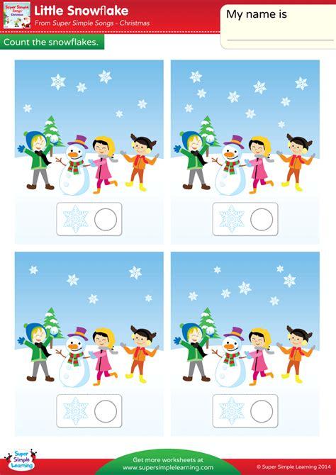 snowflake worksheet count  snowflakes super