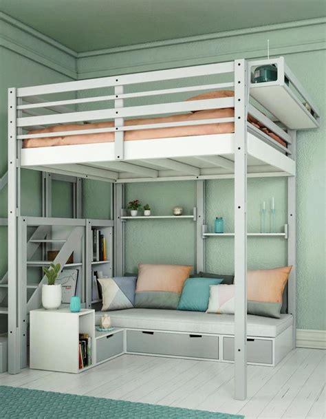 lit mezzanine avec canapé convertible lit mezzanine 2 places avec canap lit mezzanine mtal