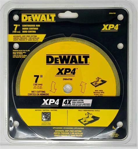 dewalt xp wet  blade pcc tile professional