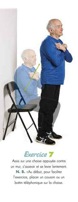 exercice chaise profitez de la vie soyez actif