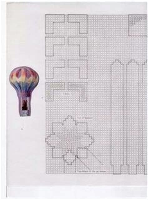hot air balloon plastic canvas  art pinterest