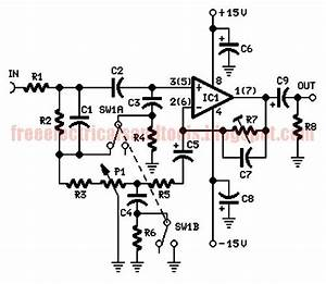 Free Schematic Diagram  Automatic Loudness Control Circuit