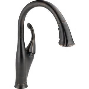 delta kitchen faucets bronze shop delta venetian bronze pull kitchen faucet at lowes