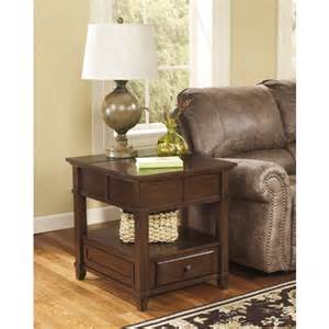 gately rectangular end table medium brown set of 1