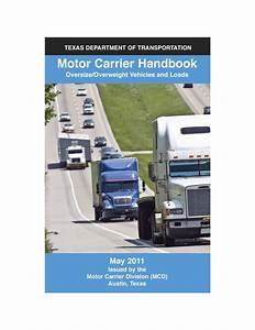 Motor Carrier Handbook  Oversize  Overweight Vehicles And