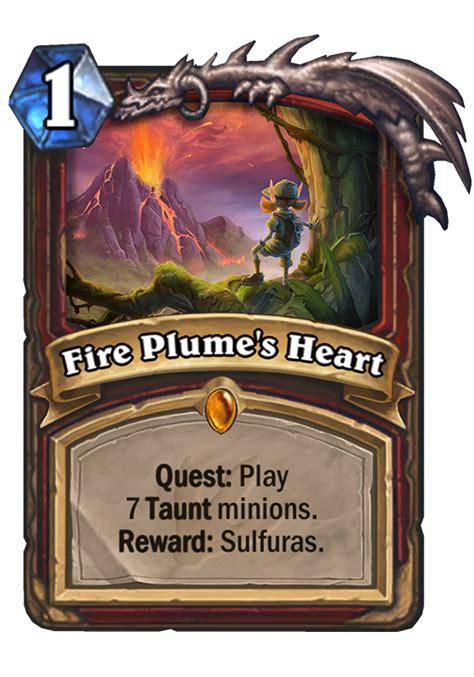 fire plumes heart hearthstone card hearthstone top decks