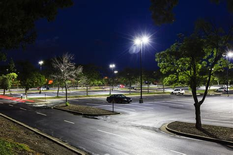 parking lot light ge outdoor and office lighting solutions will save metlife
