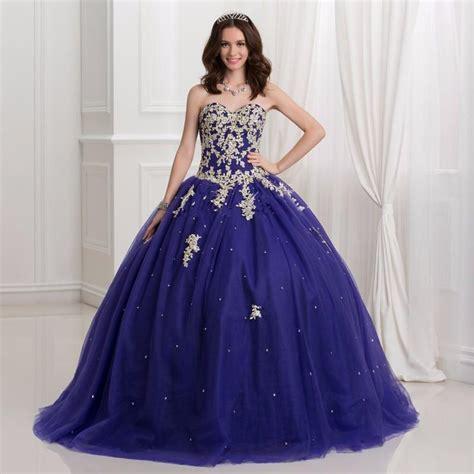 size vestidos debutante dark royal blue ball gown