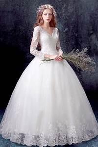 classique robe de mariee princesse 2017 avec manches With robe de mariée classique