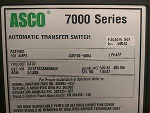 Asco 260a Series 7000 Automatic Transfer Switch   6043