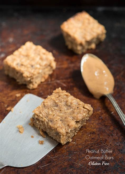 peanut butter oatmeal bars gluten  nutritious eats