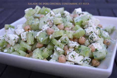 recette cuisine russe salade de pois chiches concombre feta plaisir et