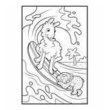 Coloring Crayola Llamas Surfs Sloths sketch template
