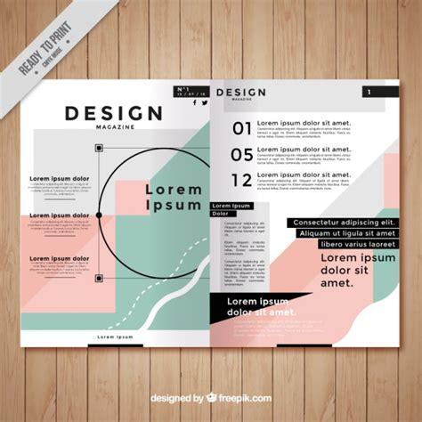 mag de gratis plantilla bonita de revista descargar vectores gratis