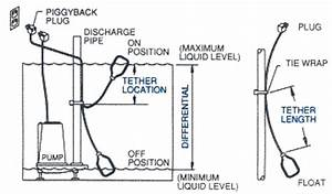 Pump accessories information for Feeds the float switch another wire runs between the float switch and