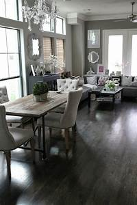 veronika39s blushing rustic contemporary dining living With rustic modern dining room ideas