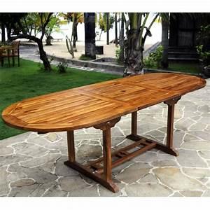 Table Jardin Teck : meuble en teck table de jardin rallonge papillon ~ Teatrodelosmanantiales.com Idées de Décoration
