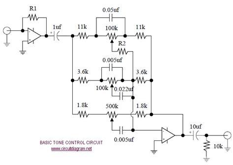 Tone Control Circuit Diagram Schematics