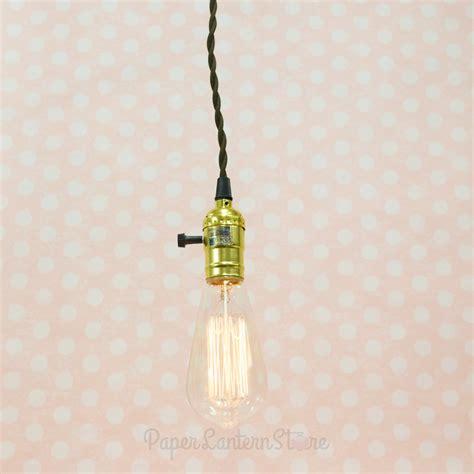 single gold socket vintage pendant light cord w dimmer