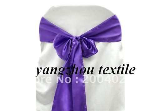 purple satin sash chair cover sash satin chair bow satin