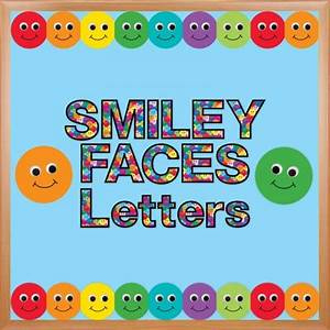punch out bulletin board smiley face letters hygloss With punch out letters for bulletin boards