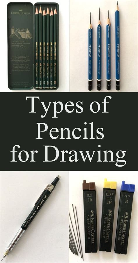 guide  types  drawing pencils including wooden