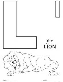 Printable Alphabet Letter L Coloring Page