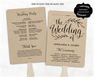 wedding reception program template printable wedding program template fan wedding program