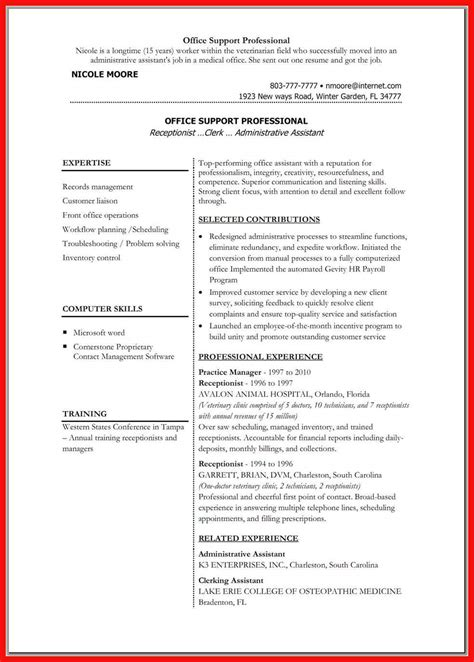 Resume Templates by Resume Word Doc Template Apa Exle