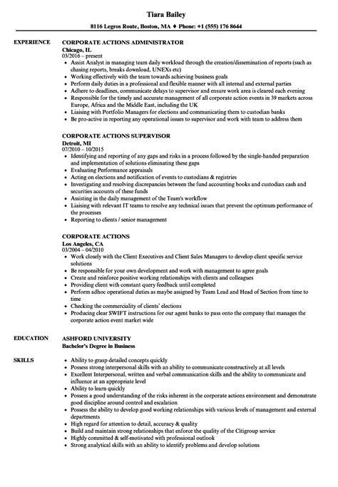 Corporate Resume Builder by Corporate Actions Resume Sles Velvet