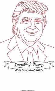 FREE Pattern: Latest Presidential Redwork Design – Donald ...