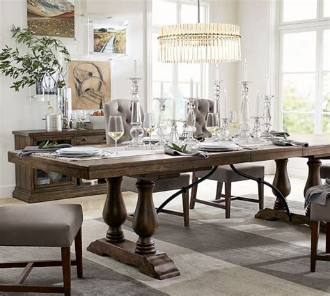 pottery barn kirkwood dining table lorraine extending dining table pottery barn fairacres
