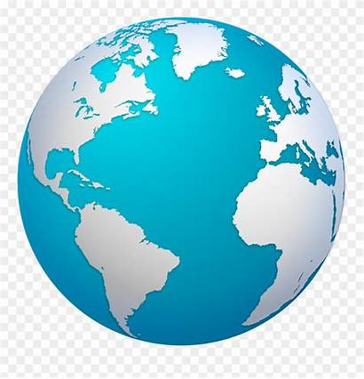 Globe Map Earth Clipart Cartoon Glob Transparent