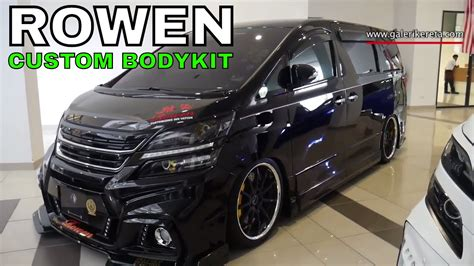 Toyota Vellfire Modification by Rowen Luxu Custom Toyota Alphard Vellfire Custom