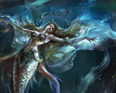 Fantasy Mermaid Wallpaper Wallpapersafari
