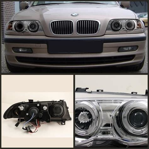 Bmw Halo Lights by Spyder Chrome Projector Led Halo Headlights For 1999 2001