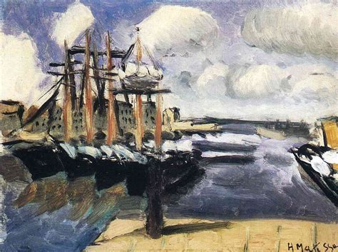 The Boat Matisse by Four Boats Side By Side In The Marseilles Harbor C 1916