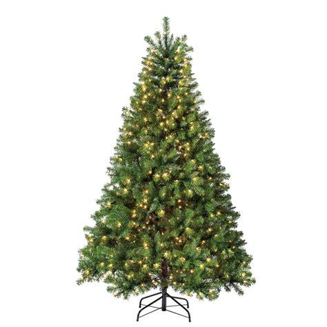shop holiday living 6 5 ft pre lit pine artificial