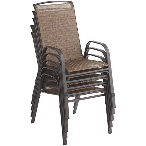 sling stacking patio chairs essential garden bartlett