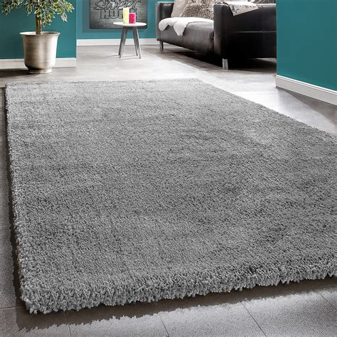 teppich in grau shaggy grau hochflor teppiche