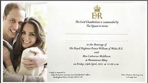 Prince William Kate Middleton Wedding Invitations ...