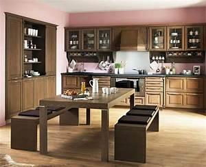 Cuisine en bois rustique inspirations et idees deco for Idee deco cuisine avec cuisine rustique