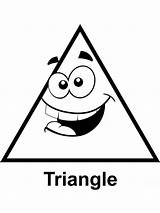 Coloring Pages Triangles Triangle Educational Printable Template Recommended sketch template