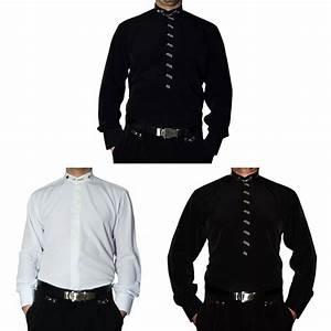 Die Herren Edel : hochzeitshemd stehkragen herren hemd s1 schwarz o wei stehkragenhemd hochzeit ebay ~ Markanthonyermac.com Haus und Dekorationen